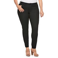 Plus Size Jennifer Lopez Black Skinny Jeans