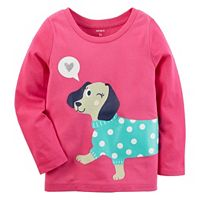 Girls 4-8 Carter's Winking Dog Tee