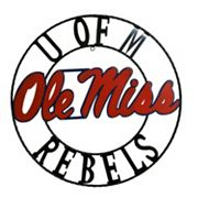 Ole Miss Rebels 18-Inch Wrought Iron Wall Décor