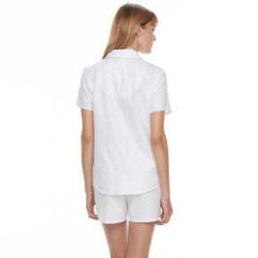 Women's Croft & Barrow® Pajamas: Woven Top & Shorts PJ Set