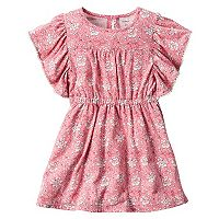 Girls 4-8 Carter's Floral Cinched Waist Dress