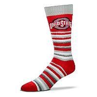 Adult For Bare Feet Ohio State Buckeyes Muchas Rayas Crew Socks