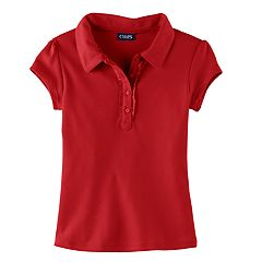 Girls 4-6x Chaps Ruffled Polo Shirt