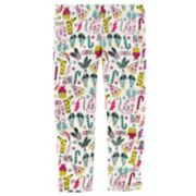 Girl's 4-8 Carter's Cat Fleece Leggings