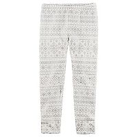 Girls 4-8 Carter's Snowflake Cozy Leggings