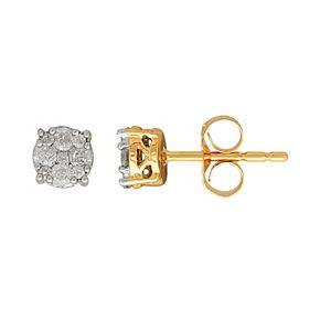 10k Gold 1/4 Carat T.W. Diamond Cluster Stud Earrings