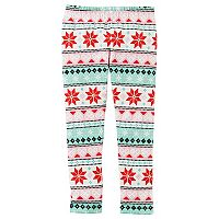 Girls 4-8 Carter's Fairisle Fleece Leggings