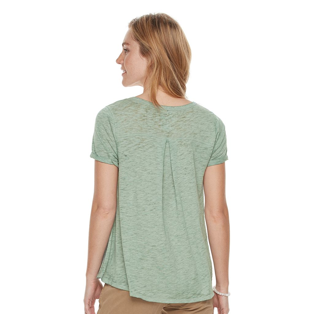 Women's SONOMA Goods for Life™ Splitneck Tee