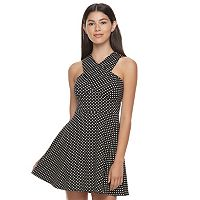 Juniors' Candie's® Cross Body Skater Dress