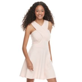 Juniors' Candie's® Cross Body Skater Dress
