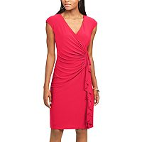 Women's Chaps Ruffled Sheath Dress