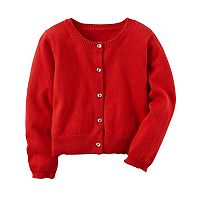 Girls 4-8 Carter's Holiday Red Button-Front Cardigan