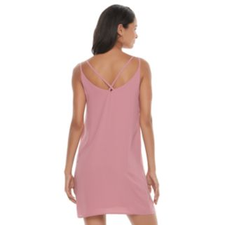Juniors' Pink Republic Criss Cross Back Shift Dress