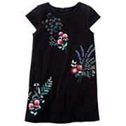 Girls 4-8 Carter's Floral Velvet Dress