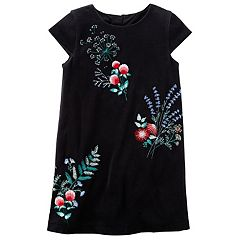Girls 4-8 Carter's Floral Velvet Dress