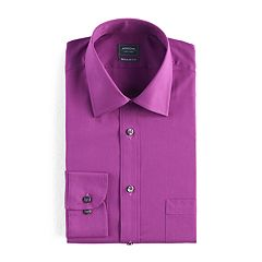 Men's Arrow Regular-Fit Solid Textured Dress Shirt