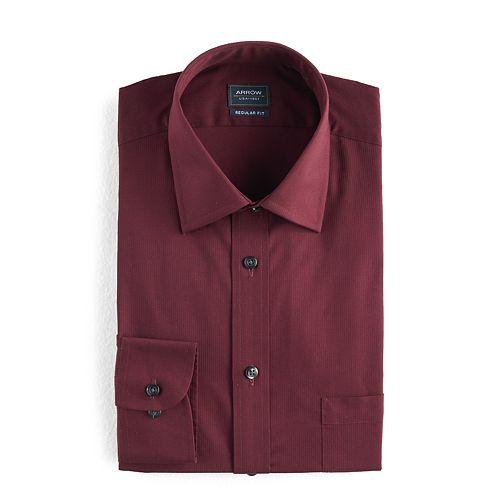 a64ed91a98 Men s Arrow Regular-Fit Solid Textured Dress Shirt