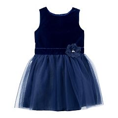 Girls 4-8 Carter's Velvet & Tulle Dress