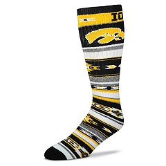 Adult For Bare Feet Iowa Hawkeyes Tailgater Crew Socks