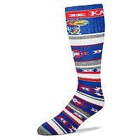 Adult For Bare Feet Kansas Jayhawks Tailgater Crew Socks