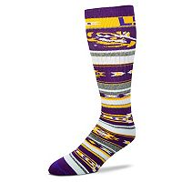 Adult For Bare Feet LSU Tigers Tailgater Crew Socks