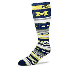Adult For Bare Feet Michigan Wolverines Tailgater Crew Socks