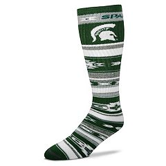 Adult For Bare Feet Michigan State Spartans Tailgater Crew Socks