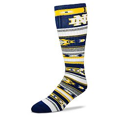 Adult For Bare Feet Notre Dame Fighting Irish Tailgater Crew Socks