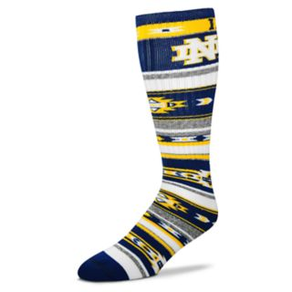 Adult For Bare Feet Notre Dame Fighting Irish Tailgater Crew Socks