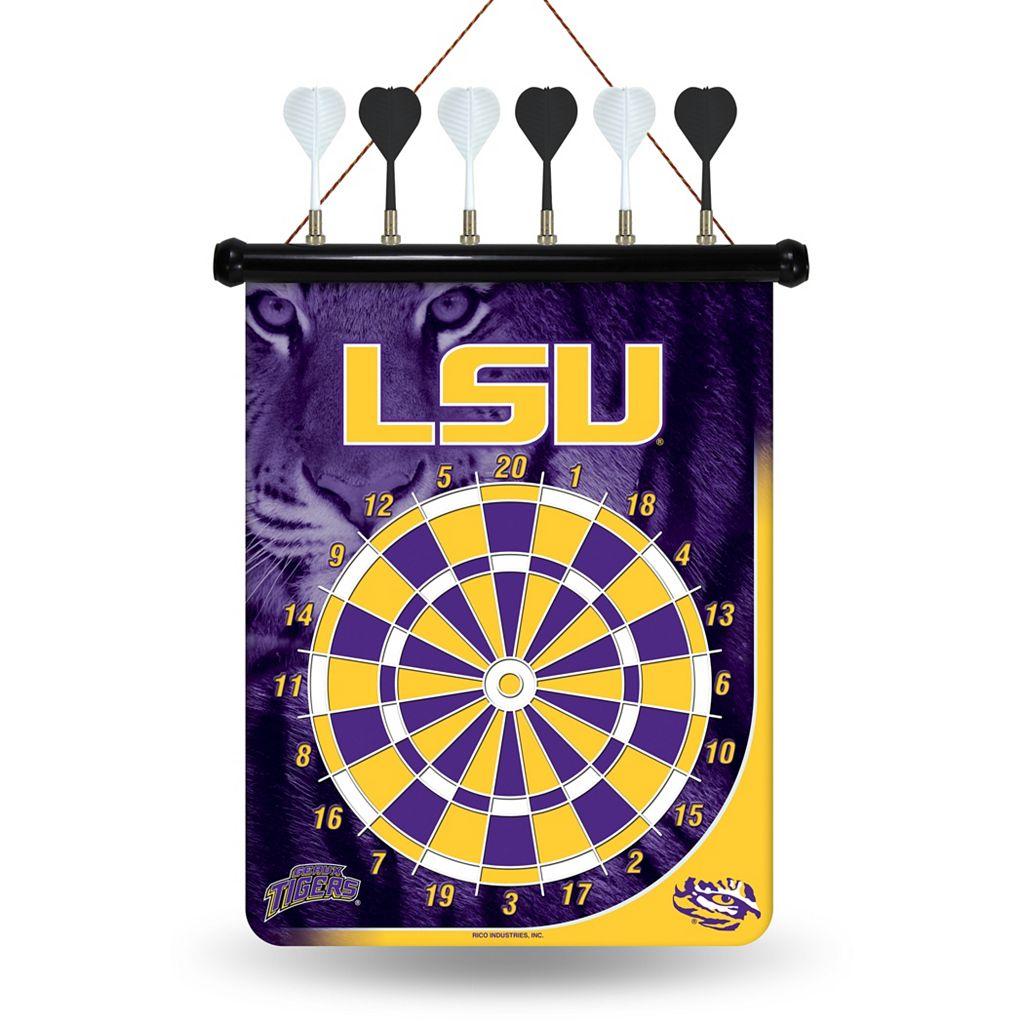 LSU Tigers Magnetic Dart Board