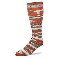 Adult For Bare Feet Texas Longhorns Tailgater Crew Socks