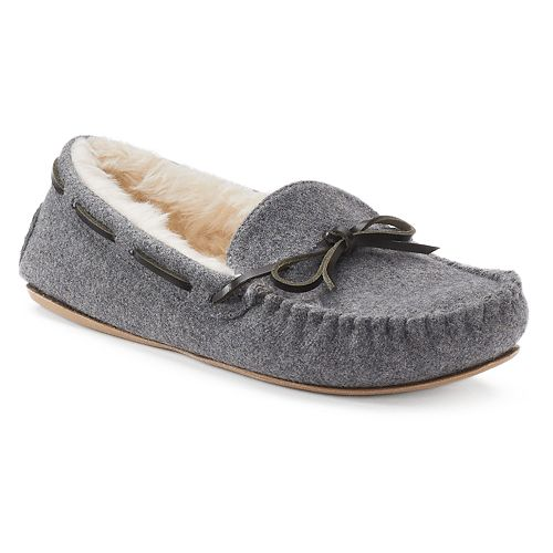 e45095c08225 SONOMA Goods for Life™ Women s Faux-Fur Lined Moccasin Slippers