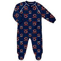 Baby Chicago Bears Fleece Footed Pajamas