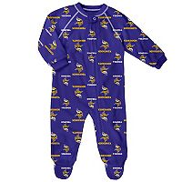 Baby Minnesota Vikings Fleece Footed Pajamas