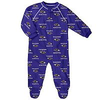 Baby Baltimore Ravens Fleece Footed Pajamas