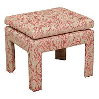 HomePop Coral Decorative Ottoman
