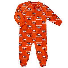 Baby Denver Broncos Fleece Footed Pajamas