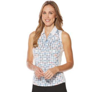 Women's Grand Slam Performance Print Sleeveless Golf Polo