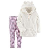 Girls 4-8 Carter's Pullover Hoodie & Patterned Leggings Set