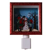 Snowman Scene Night Light