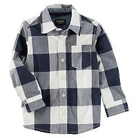 Boys 4-12 OshKosh B'gosh Checked Plaid Button Down Shirt