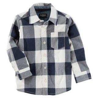 Boys 4-12 OshKosh B'gosh Checked Plaid Button Down Shirt