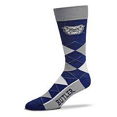 Adult For Bare Feet Butler Bulldogs Argyle Crew Socks