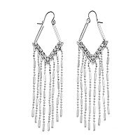 Jennifer Lopez Fringe Nickel Free Kite Earrings