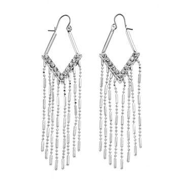 Jennifer Lopez Fringe Nickel Free Kite Earrings