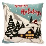 St. Nicholas Square® ''Happy Holidays'' Throw Pillow
