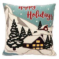 St. Nicholas Square® ''Happy Holidays'' Throw Pillow