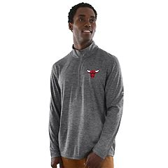 Men's Majestic Chicago Bulls Remain Focused Quarter-Zip Top