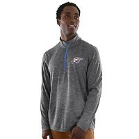 Men's Majestic Oklahoma City Thunder Remain Focused Quarter-Zip Top