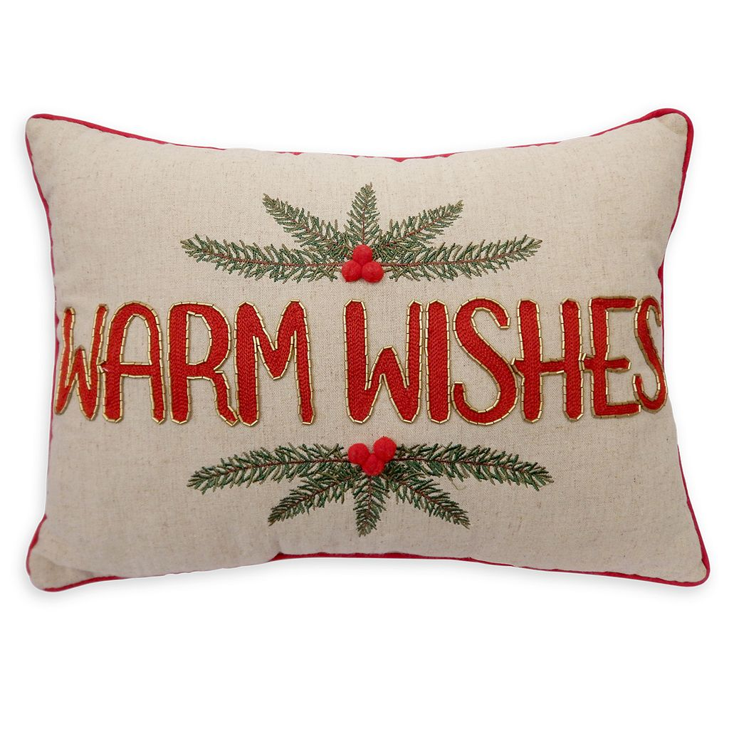 St. Nicholas Square® ''Warm Wishes'' Oblong Throw Pillow